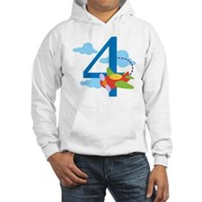4th Birthday Airplane Hoodie