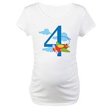 4th Birthday Airplane Shirt