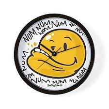 Num Smiley Wall Clock
