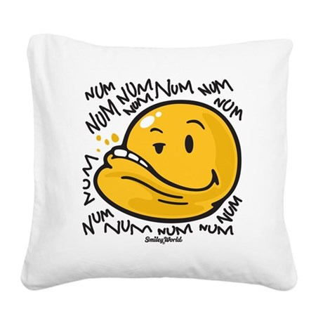 Num Smiley Square Canvas Pillow