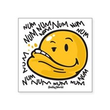 "Num Smiley Square Sticker 3"" x 3"""