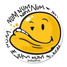 Num Smiley Round Car Magnet