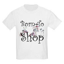 Born to Shop Kids Light T-Shirt