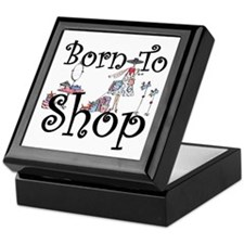 Born to Shop Keepsake Box