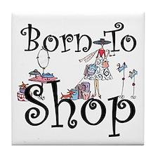 Born to Shop Tile Coaster