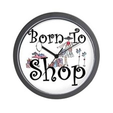 Born to Shop Wall Clock