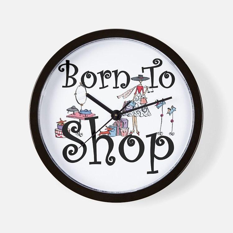 Born to Shop Wall Clock