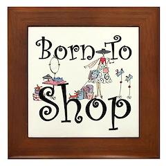 Born to Shop Framed Tile