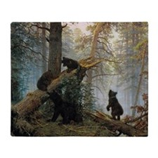 Ivan Shishkin Morning In A Pine Fore Throw Blanket