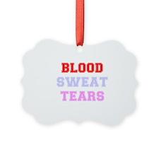 BLOOD SWEAT TEARS Ornament