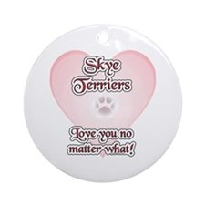 Skye Love U Ornament (Round)