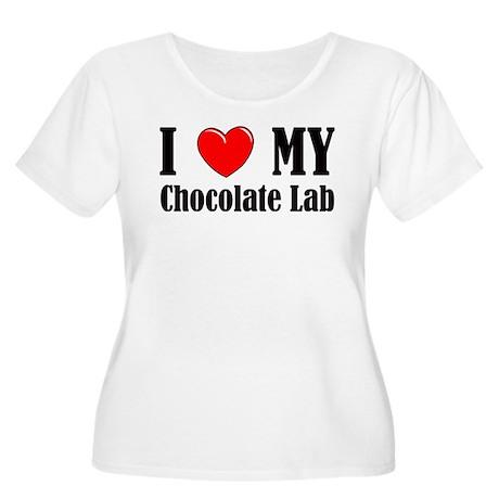 I Love My Chocolate Lab Women's Plus Size Scoop Ne