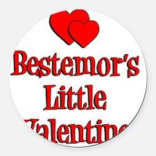 Bestemors Little Valentine Round Car Magnet