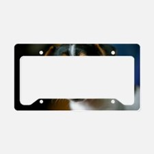 Cute Jack Russell Terrier Pup License Plate Holder