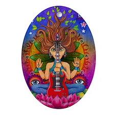 Guitar Goddess Oval Ornament
