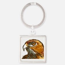 Hawk Square Keychain