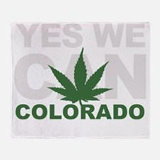 Yes We Can Colorado Throw Blanket