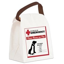 In Case of Emergency: Pet Rescue  Canvas Lunch Bag
