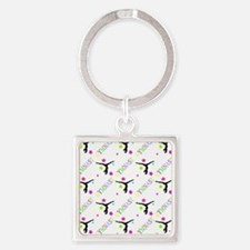 Shower Curtain Square Keychain