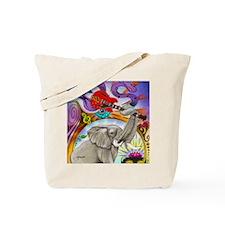 Musical Elephant Tote Bag