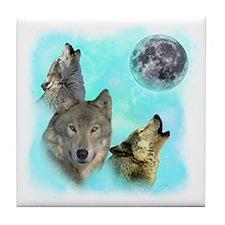 Wolves Siney Grim Moon 0 Tile Coaster