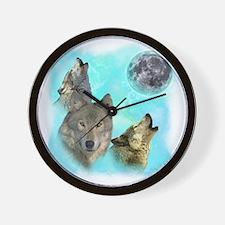 Wolves Siney Grim Moon 0 Wall Clock
