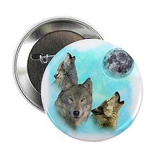 """Wolves Siney Grim Moon 0 2.25"""" Button"""