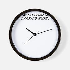 I'm so cold my ovaries hurt. Wall Clock