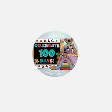Teddy Bears 100 Days Mini Button
