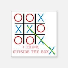 """Outside the Box Square Sticker 3"""" x 3"""""""