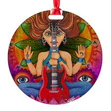 Guitar Goddess Ornament