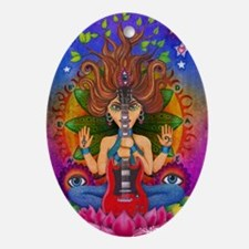 guitar goddess poster Oval Ornament