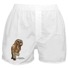 Northern Saw-Whet Owl Boxer Shorts