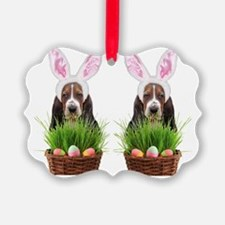 Easter Basset Hound Ornament