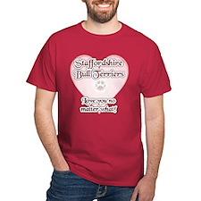 Staffy Love U T-Shirt
