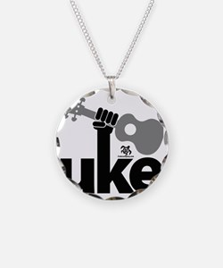Uke Fist Necklace Circle Charm