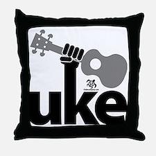 Uke Fist Throw Pillow