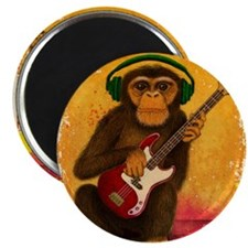 Funky Monkey Bass Player Magnet