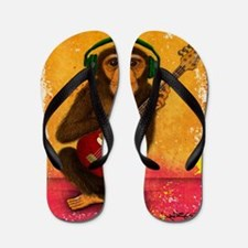 Funky Monkey Bass Player Flip Flops