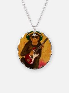 Funky Monkey Bass Player Necklace