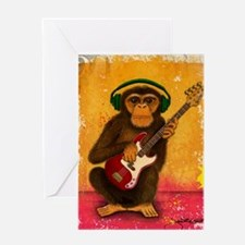 Funky Monkey Bass Player Greeting Card