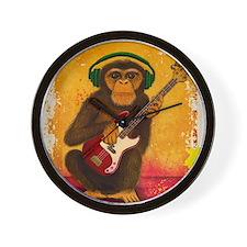 Funky Monkey Bass Player Wall Clock