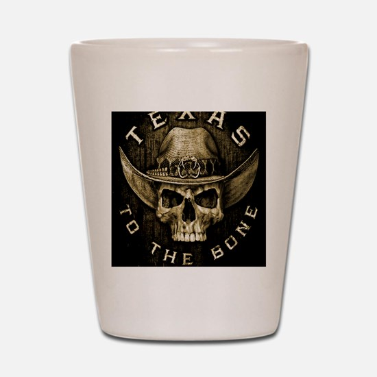 Texas to the bone Shot Glass