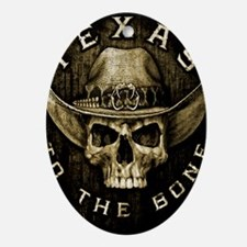 Texas to the bone Oval Ornament