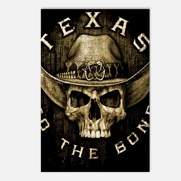 Texas to the bone Postcards (Package of 8)