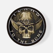 Texas to the bone Wall Clock