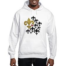 Gold and Black fleur de lis Hoodie