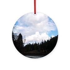 eelriverking_duvet Round Ornament