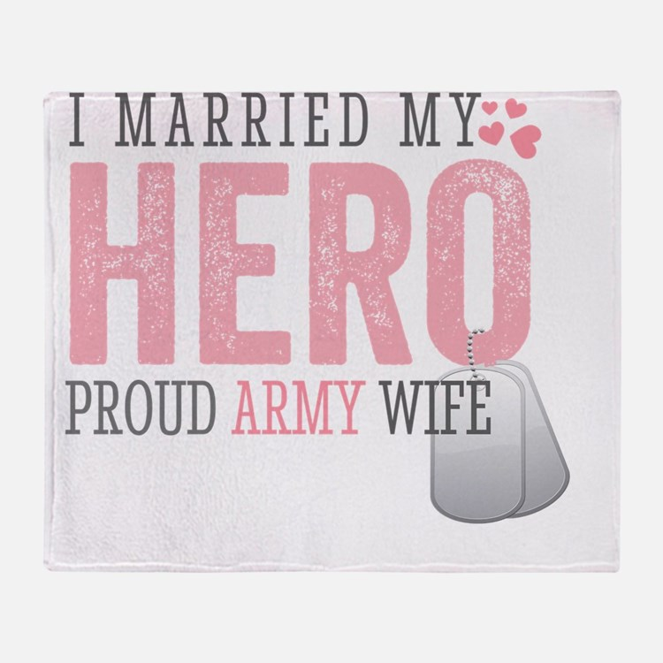 I Married my Hero Throw Blanket