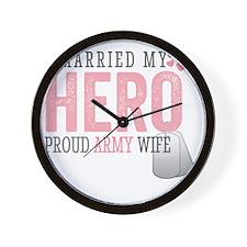 I Married my Hero Wall Clock